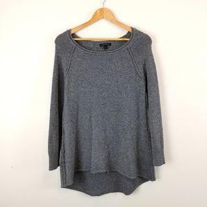 PARKHURST | Long Sleeve Gray Pullover Sweater